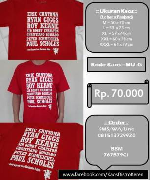 Kaos Distro - MU Legend